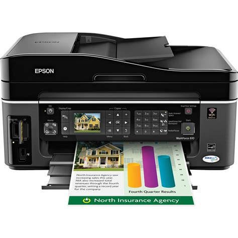 Printer Epson All In One epson workforce 610 color all in one printer c11ca50201 b h