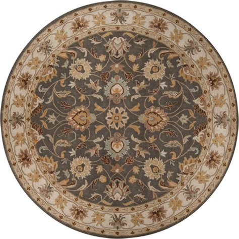 Artistic Weavers Berkeley Charcoal Wool Round 4 Ft Area 4 Foot Area Rugs