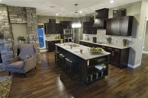 floor color against espresso cabinets   Home   Pinterest