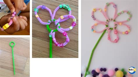 pipe cleaner flower craft with kidz activities