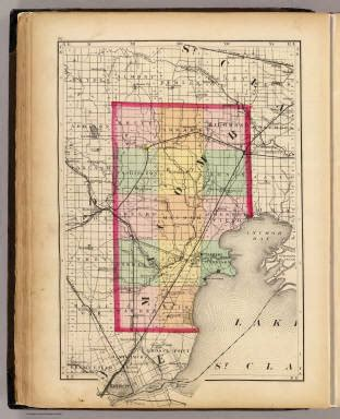 macomb county section 8 map of macomb county michigan walling h f 1873