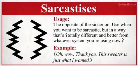 exle of sarcasm sarcasm marks 161 191 we don t do no stinking sarcasm medianism org