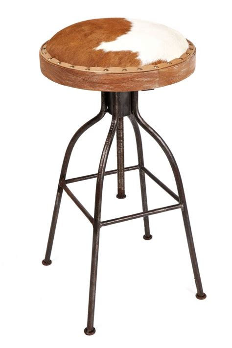 Cowhide Counter Bar Stools by Jefferson Cowhide Barstool Brownwhite 20copy Accessories