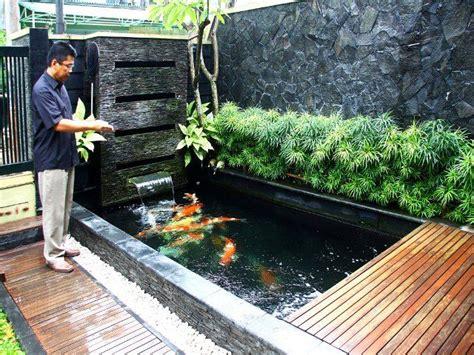 design taman 40 gambar kolam ikan minimalis kolam ikan koi kolam ikan