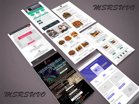 create professional email template design and create html email template fiverr