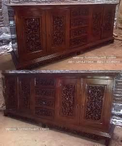 Bufet Tv Jati Palembang bufet ukir palembang kayu jati jepara laci 4 tengah pintu