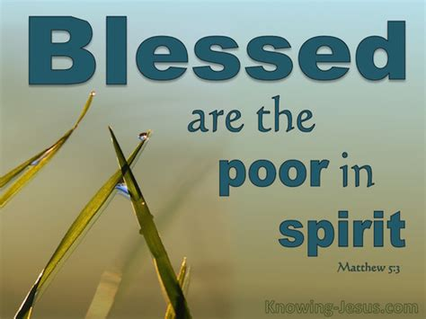 matthew 5 3 verse of the day