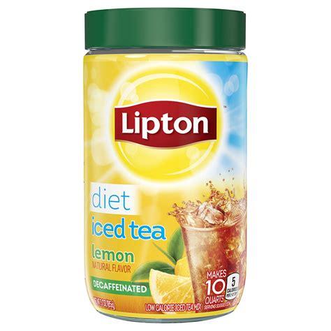 amazon tea amazon com lipton iced tea mix diet raspberry 10 quart