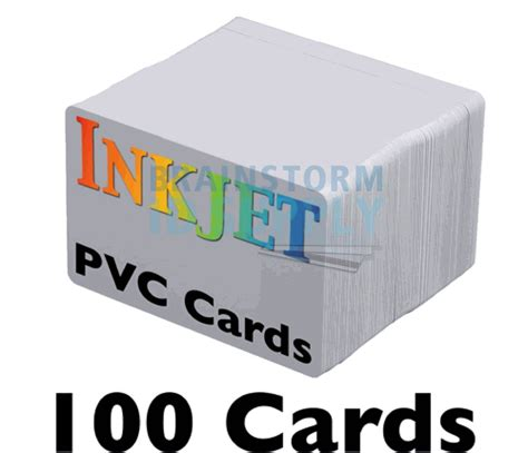 inkjet printable plastic id cards 100 blank inkjet pvc id cards double sided printing