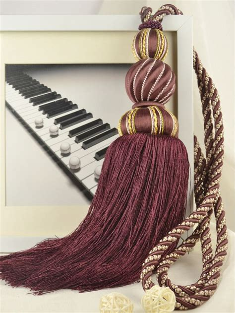 burgundy curtain tie backs 409 best images about tassels on pinterest tassels
