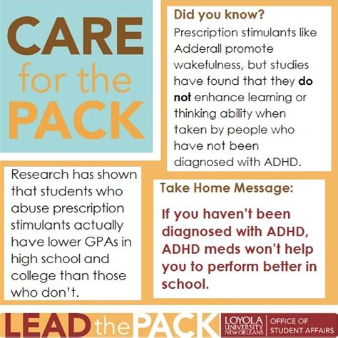 Loyno Find Did You Facts About Adhd Medication Care For The Pack Blogs Loyola