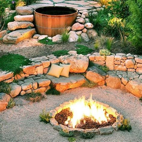 Built In Firepit 38 Ideas For Firepits Sfgate
