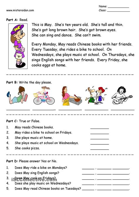 english for primary students body partscomprehension elementary google search