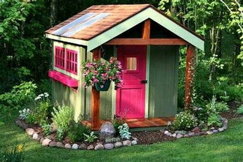 pretty garden shed treehouses  cozy places pinterest