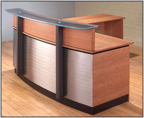 used l shaped desk used l shaped reception desk desk home design ideas