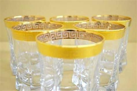shop gold greek key whiskey glasses set of 6 versace