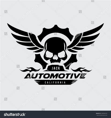 Honda Stock Symbol by Automotive Skull Vector Logo Symbol 296584232