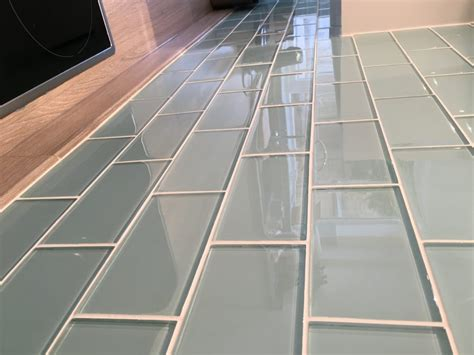 glass kitchen tiles glass metro tiles too jazzy