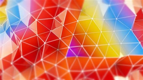 wallpaper polygon   wallpaper orange red blue