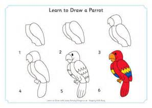 websites where you can draw learn to draw a parrot