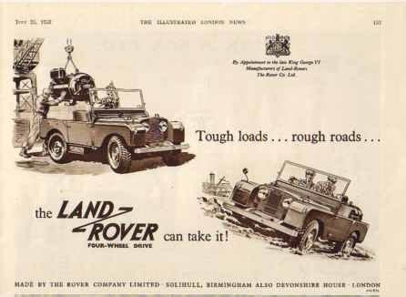 vintage land rover ad vintage monday the original quot series quot land rovers off
