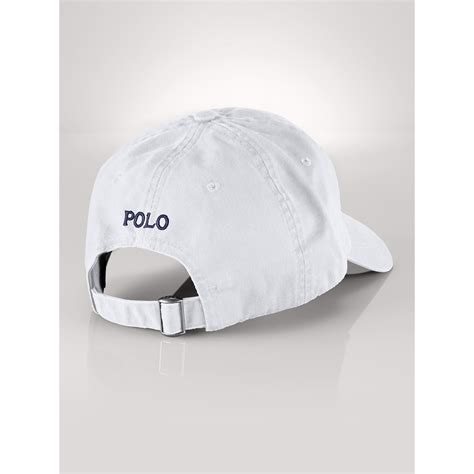 Polo Cap White lyst ralph big pony baseball cap in white for