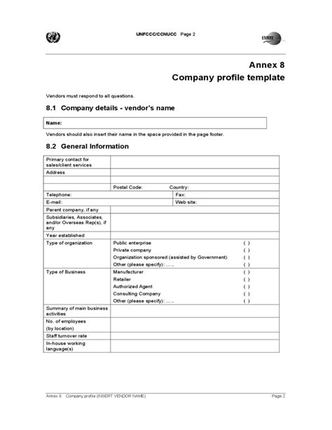 template for business profile company profile template free