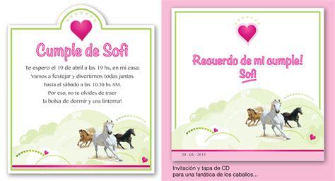 imagenes de feliz cumpleaños con caballos dg paola barassi invitaci 243 n de cumplea 241 os para una