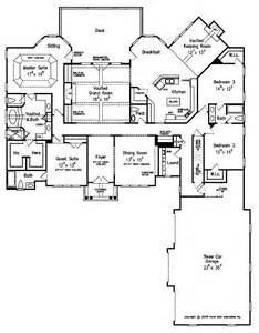 One Level Floor Plans by Luxury On One Level Hwbdo14706 Country Cottage House