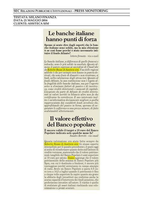 le banche italiane le banche italiane hanno punti di forza assiteca sim