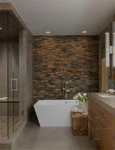 Tile Wall Bathroom Design Ideas by 20 Ideas For Bathroom Design With Stone Tiles Refreshing