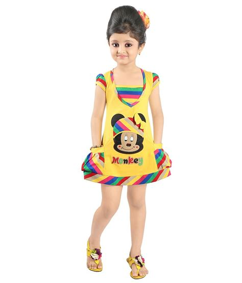 half froks pic justkids yellow cotton half frock for girls buy justkids