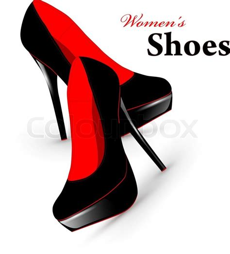 illustration of fashion high heel shoes vector