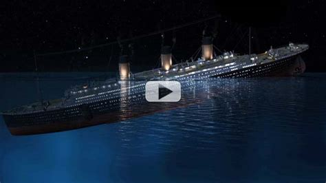 when did the titanic sink how exactly did titanic sink with james cameron video
