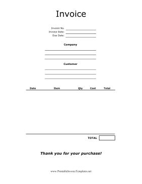 product invoice template centered product invoice template