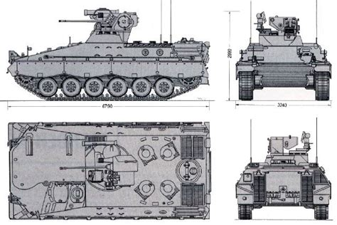 Blueprints Online marder 1 1a 1a1 armoured infantry fighting vehicle
