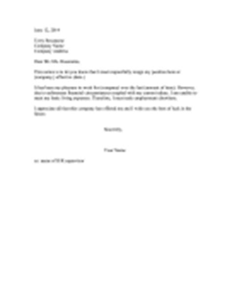Resignation Letter Format South Africa Resignation Letters Letter Of Resignation Templates