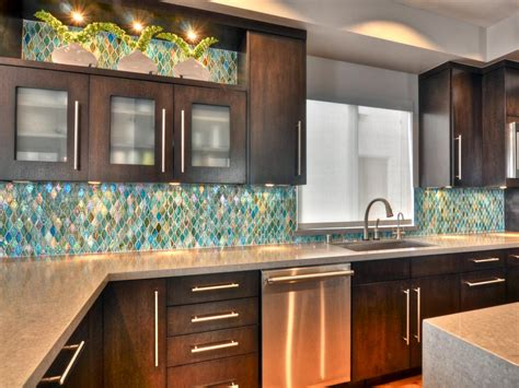 kitchen backsplash design ideas glass backsplash hgtv