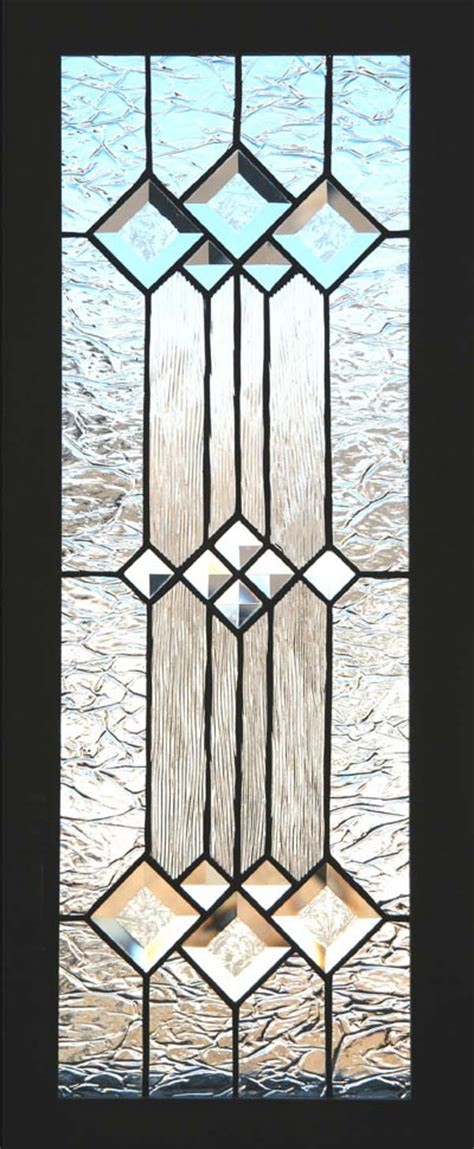 Glass Door Texture Clear Textured Glass And Bevels Create An