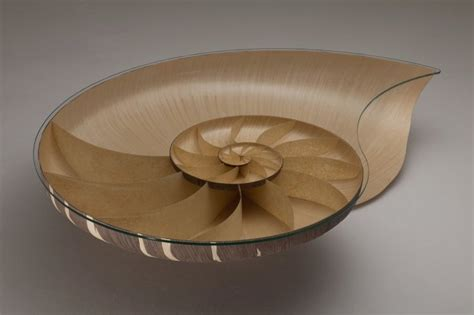 Shell Table by Stunningly Beautiful Table In Snail Shell Figure