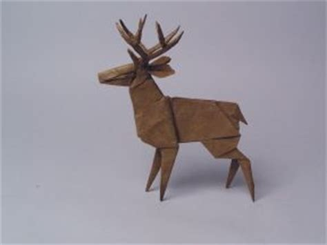 Deer Origami - reindeer origami buck deer reindeer and