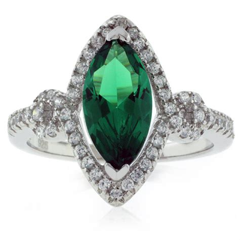 marquise cut emerald ring silver best buy