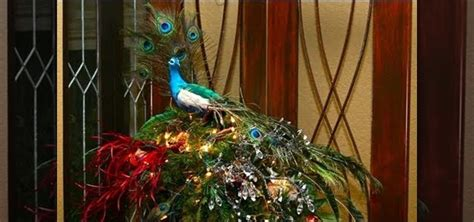 how to decorate your christmas tree in a peacock golden