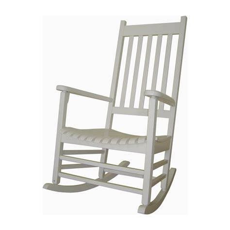 Patio Rocking Chairs Wood Shop International Concepts White Acacia Patio Rocking Chair At Lowes