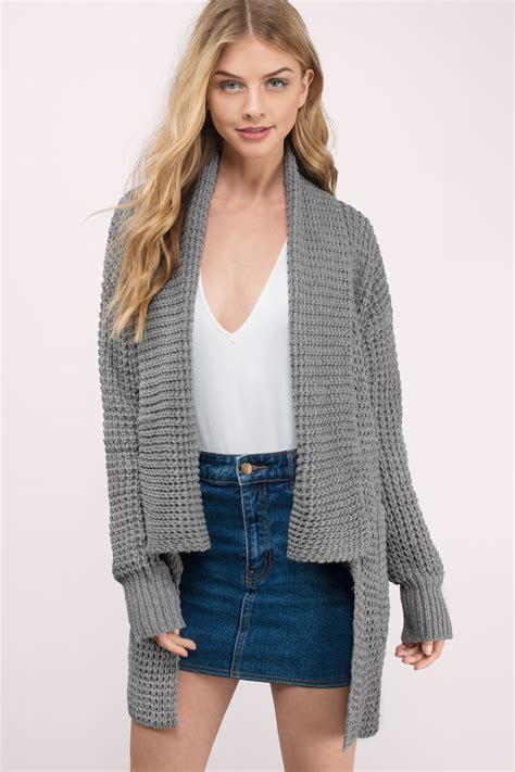 Sweater Trendy trendy grey cardigan knitted cardigan grey cardigan 17 tobi us
