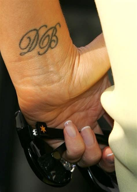 victoria beckham tattoo wrist 1000 ideas about initial tattoos on tattoos