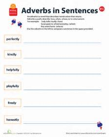 all about adverbs writing sentences 1 worksheet