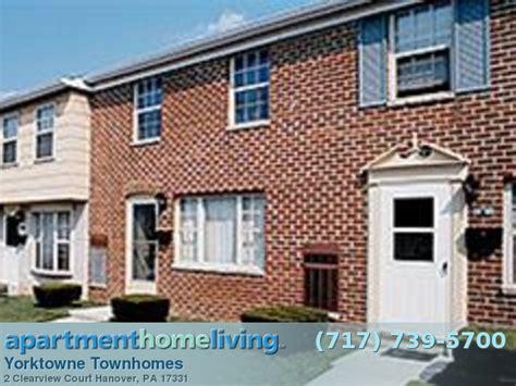 2 bedroom apartments in hanover pa yorktowne townhomes apartments hanover apartments for