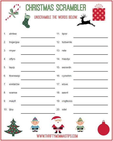 printable christmas games online christmas scrambler free kids puzzle printables thrifty