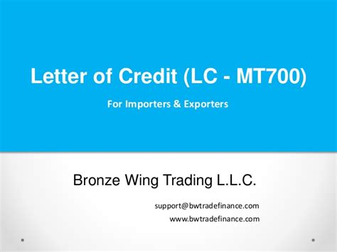 Letter Of Credit Types In Pakistan Letter Of Credit Lc Mt700 Presentation Ppt